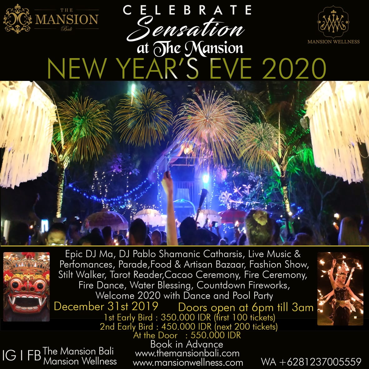 Ubud New Years Eve 2020